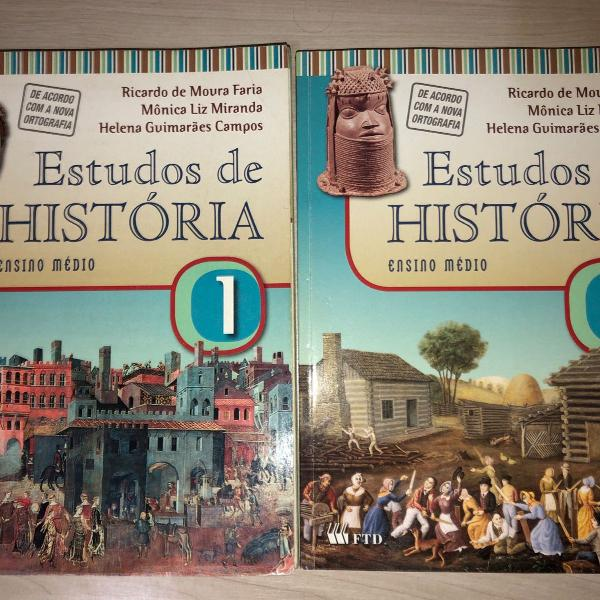 livro de história para ensino médio vol. 1 e 2
