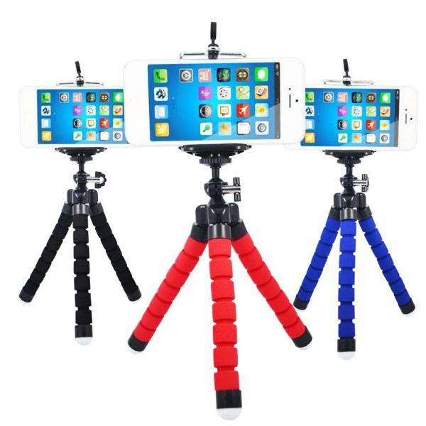 mini tripé flexível com suporte para celular novo na caixa