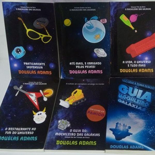 o guia do mochileiro das galáxias - coleção de livros