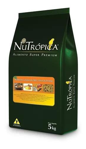Ração Nutrópica Farinhada Mel, Ovos E Frutas - 5kg