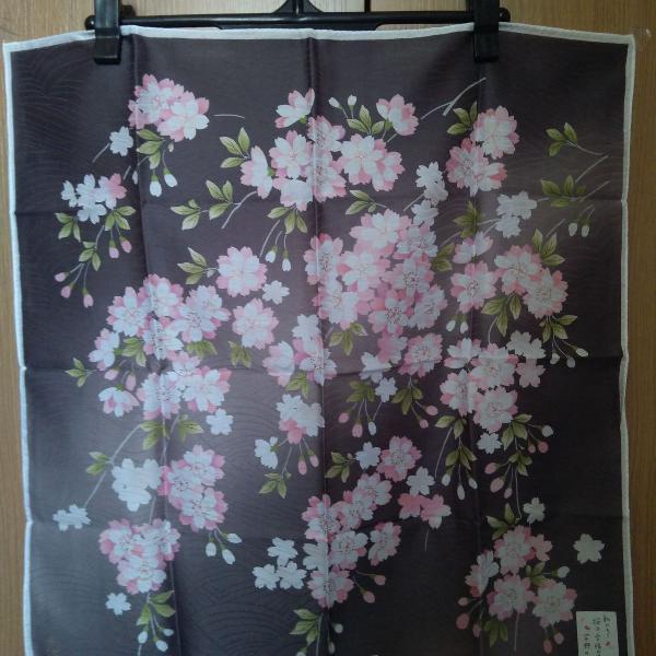 lenço estampa de cerejeira (sakura) japonês
