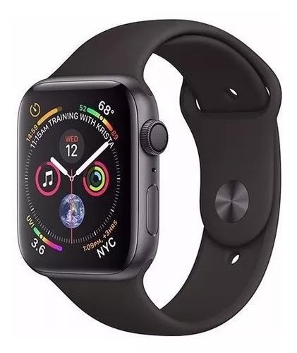 Apple Watch Series 4 44mm Gps Prova D'água Black Lacrado