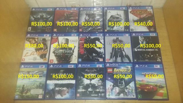 Jogos Playstation 4 e Ps3 Preco Nas Fotos