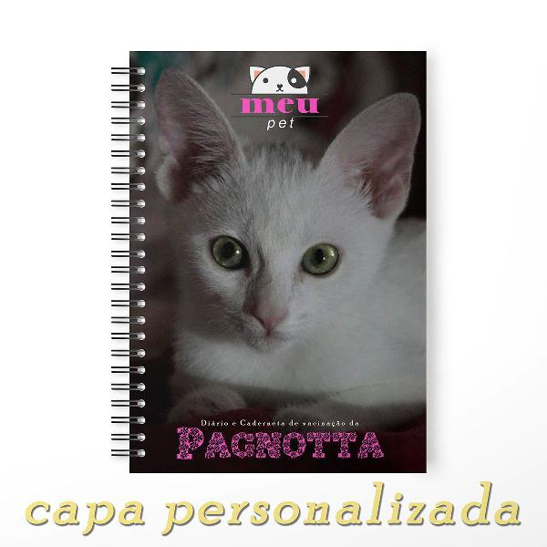 caderneta saúde vacina pet cachorro gato capa personalizada