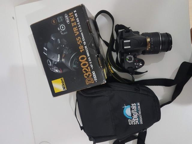 Câmera Nikon D, Cartão Memória e Bolsa. Pouco uso