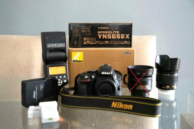 Câmera Nikon D + Lente Nikkor mm + 2 baterias