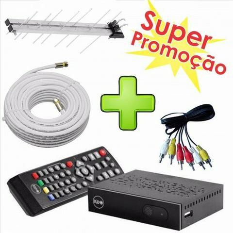 *)Kit Conversor Digital Antena Externa + Cabo Coaxial 10m