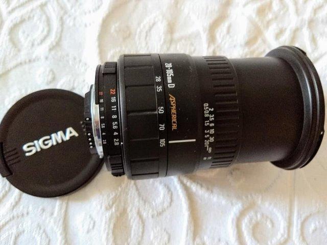 Lente Sigma AF  f/2.8-4 pª Nikon
