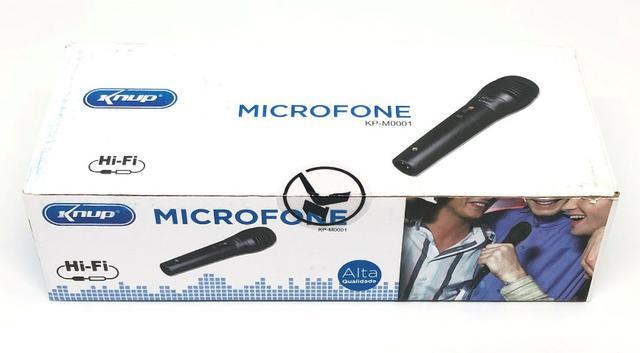 Microfone Dinâmico Com Cabo P10 Knup Kp-M Novo na Caixa