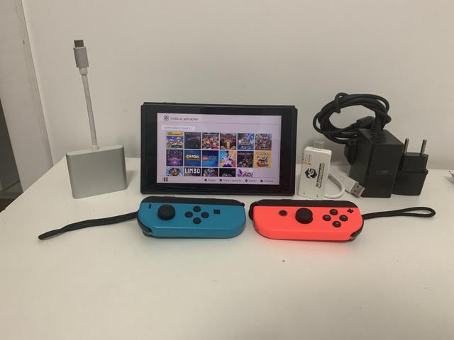 Nintendo Switch Neon Desbloqueado Aceito switch original
