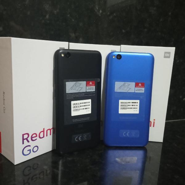 Xiaomi Redmi Go 16gb 1gb ram Cor preto e azul