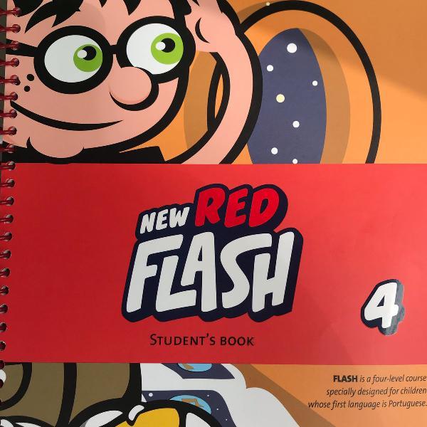 livro de inglês cultura inglesa new red flash 4 (júnior d)