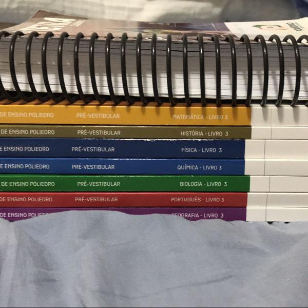 livros apostilas poliedro 3 pré vestibular 2019