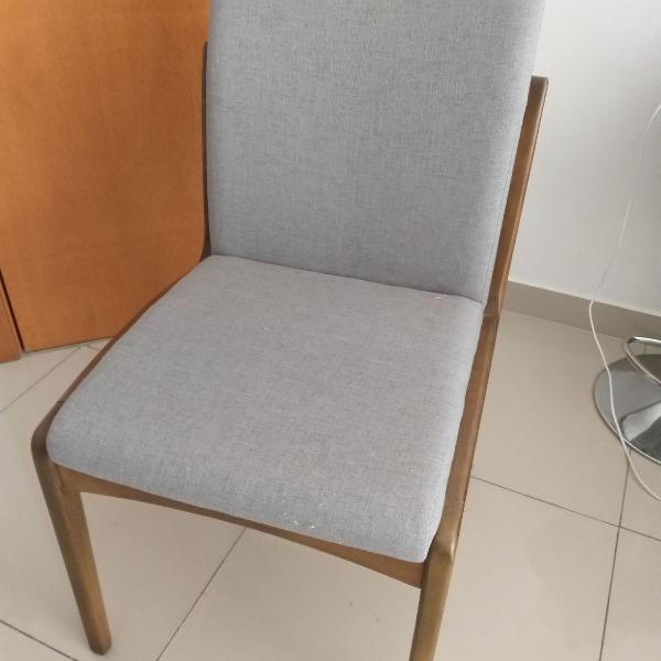 sao 8 cadeiras em madeira maciça