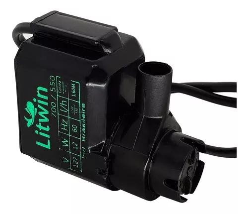 Bomba Motor Submersa Fonte Água Lagos Potente 700 L/h