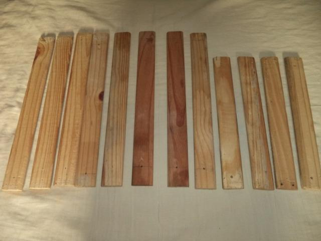 Madeira- 12 pedaços de madeiras- tudo por R$