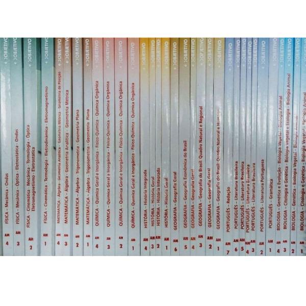 coleção completa de livros do curso objetivo (pré