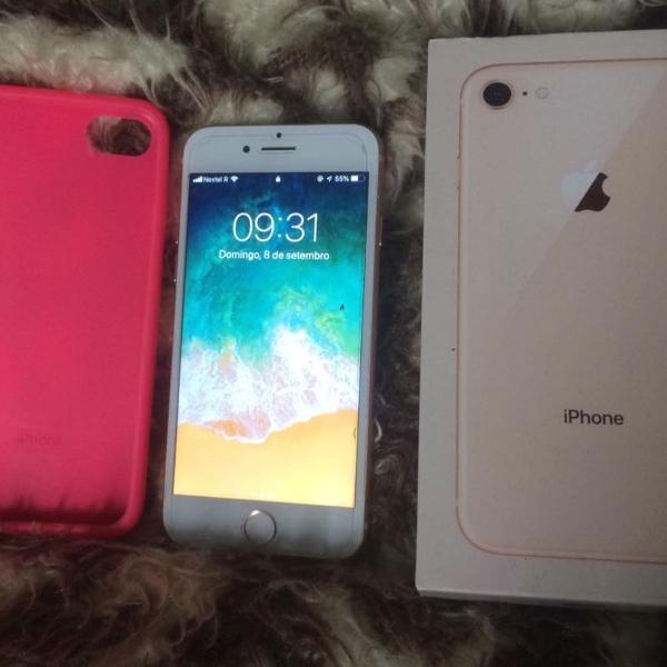 iphone 8 gold 64gb com nota fiscal desbloqueado