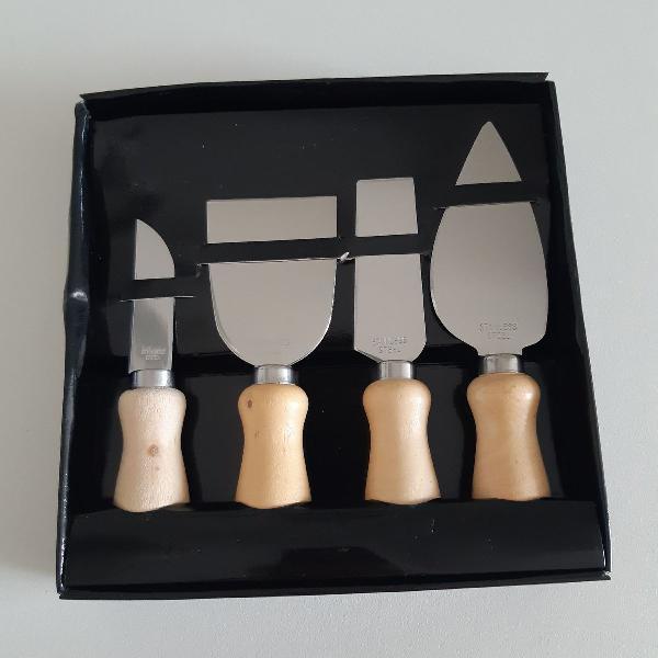 jogo de 4 peças para cortar queijo
