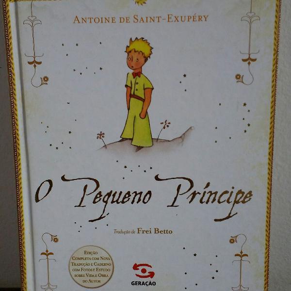 livro O Pequeno Príncipe edição de luxo com vida e obra