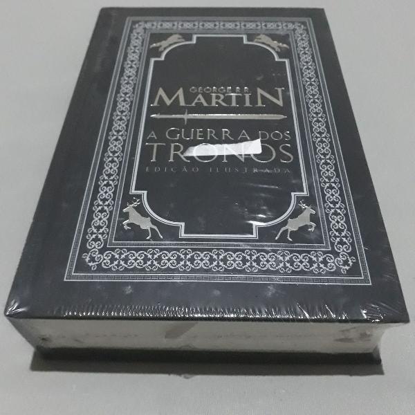 livro a guerra dos tronos capa dura ilustrado lacrado
