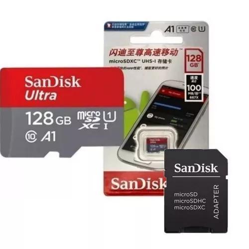 Cartão Sandisk Micro 128gb Ultra 100mb/sclasse10 A1