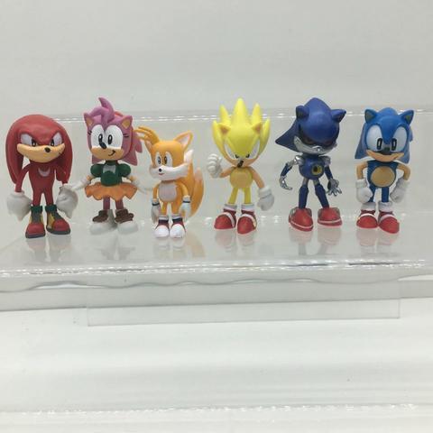 Conjunto Sonic - 6 Personagens