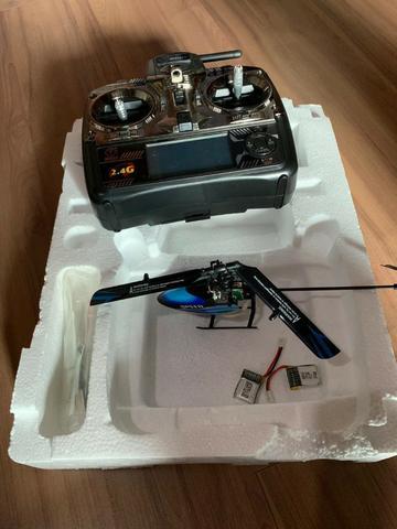 Helicóptero controle remoto V canais