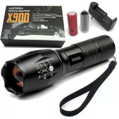 Lanterna Tática Led (Recarregavel) X900 - Forte