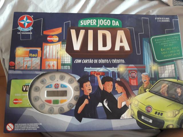 Super jogo da vida- com cartão de crédito e débito