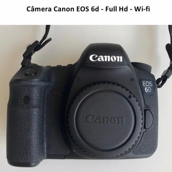 câmera canon eos 6d + mochila profissional + 2 baterias
