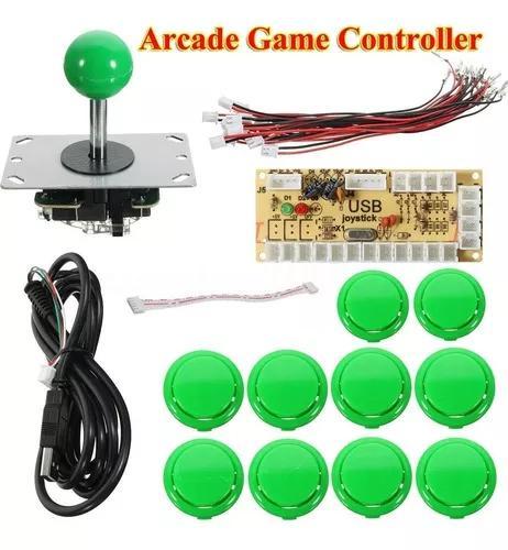 Kit Joystick Arcade - Zero Delay - Raspberry Pi - Tipo Sanwa