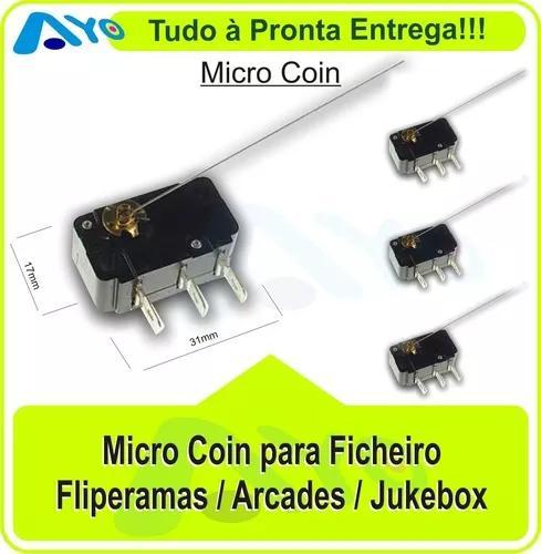 Micro Coins - Fliperama / Arcades / Jukebox (2 Unidades)
