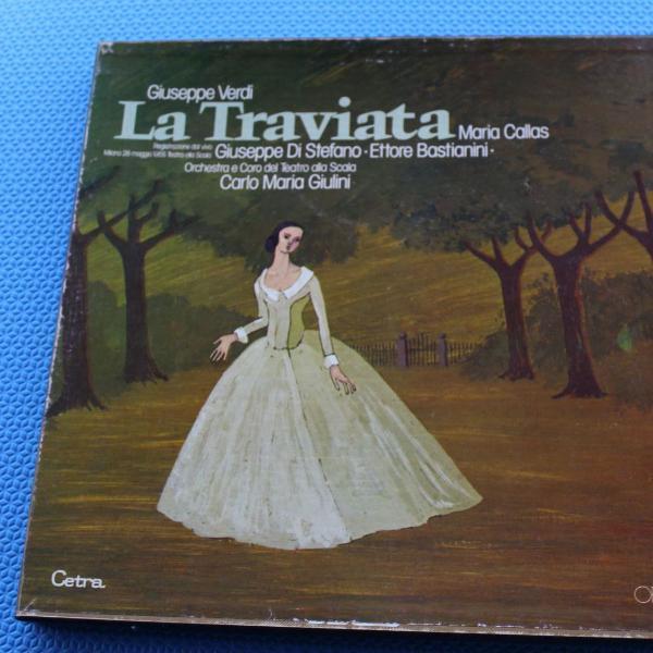 box 2 lps vinil la traviata de giuseppe verdi com maria