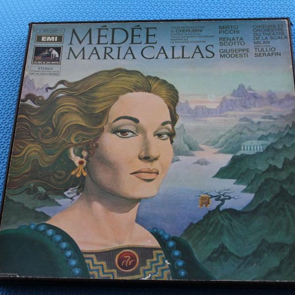 caixa 3 lps vinil e encarte maria callas médée (medéia)