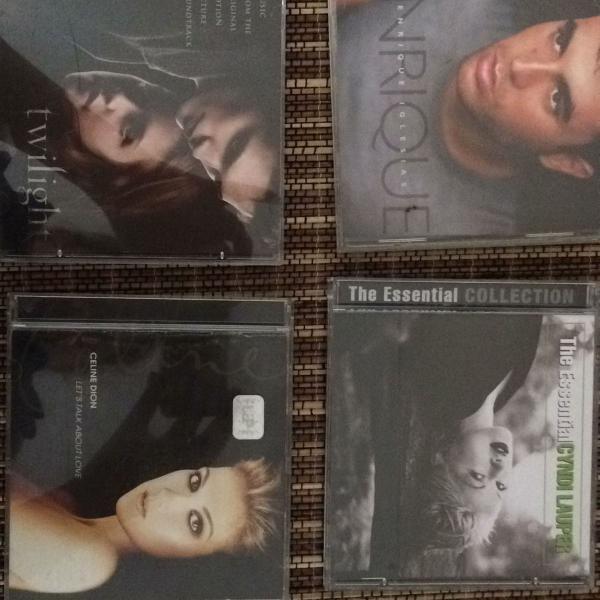 lote com 4 cds diversos