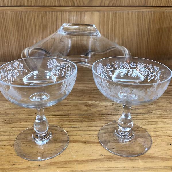 mais de cem anos! taças cristal relíquia antiguidade