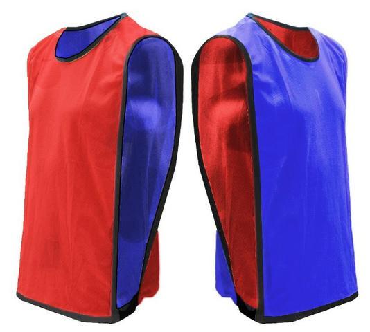 Colete de futebol dupla face para treinos futsal volei