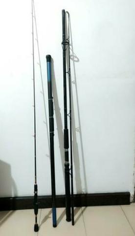 Vendo varas de pesca + molinete novos