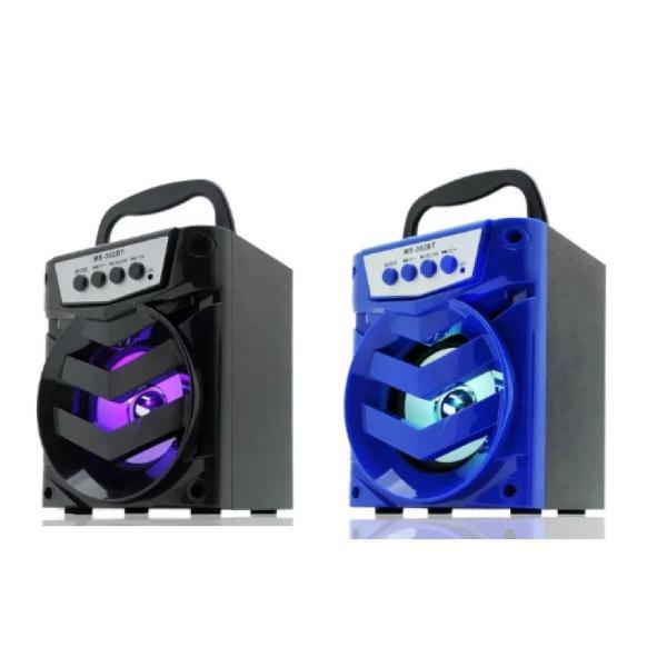 Caixa de Som Portátil Bluetooth Mp3 SD,Usb,Led e Fm