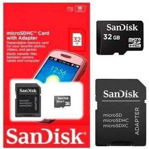 Cartão De Memória 32gb Micro Sd Sandisk Retirar Bh