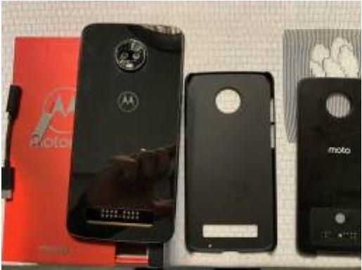 Celular Moto Z3 Play + Moto Snap Bateria + Capinha
