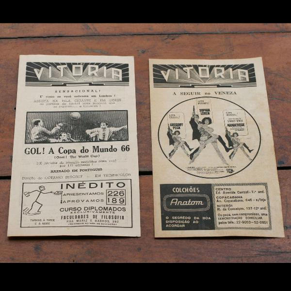 Programas Do Cinema Vitória Da Década De 1960