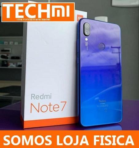 Xiaomi Redmi Note 7 Azul/Preto 64gb Novo, Cam. 48Mp, +