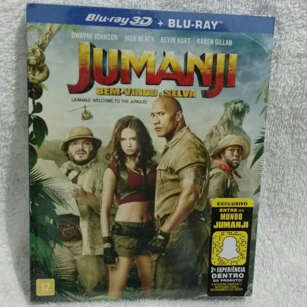 filme jumanji em blu ray 3d mais blu ray original lacrado