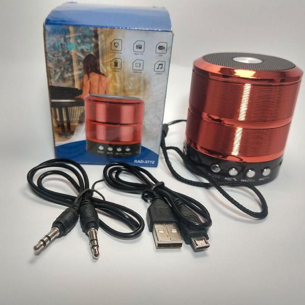 mini caixa de som bluetooth com rádio fm - rad-377z -