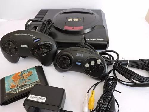 Mega Drive 1 Original 2 Controle Fita Sonic 2 Veja Video