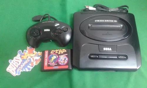 Mega Drive 3 2 Jogos 1 Controle De 3 Botões Entra Sega Cd
