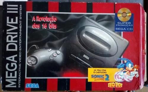 Videogame Mega Drive 3 Com Caixa Super Completo + Cartucho