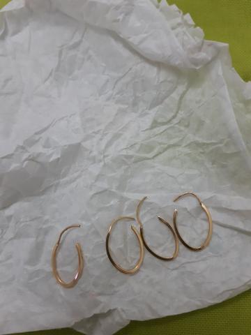 Argolinhas de ouro 18k